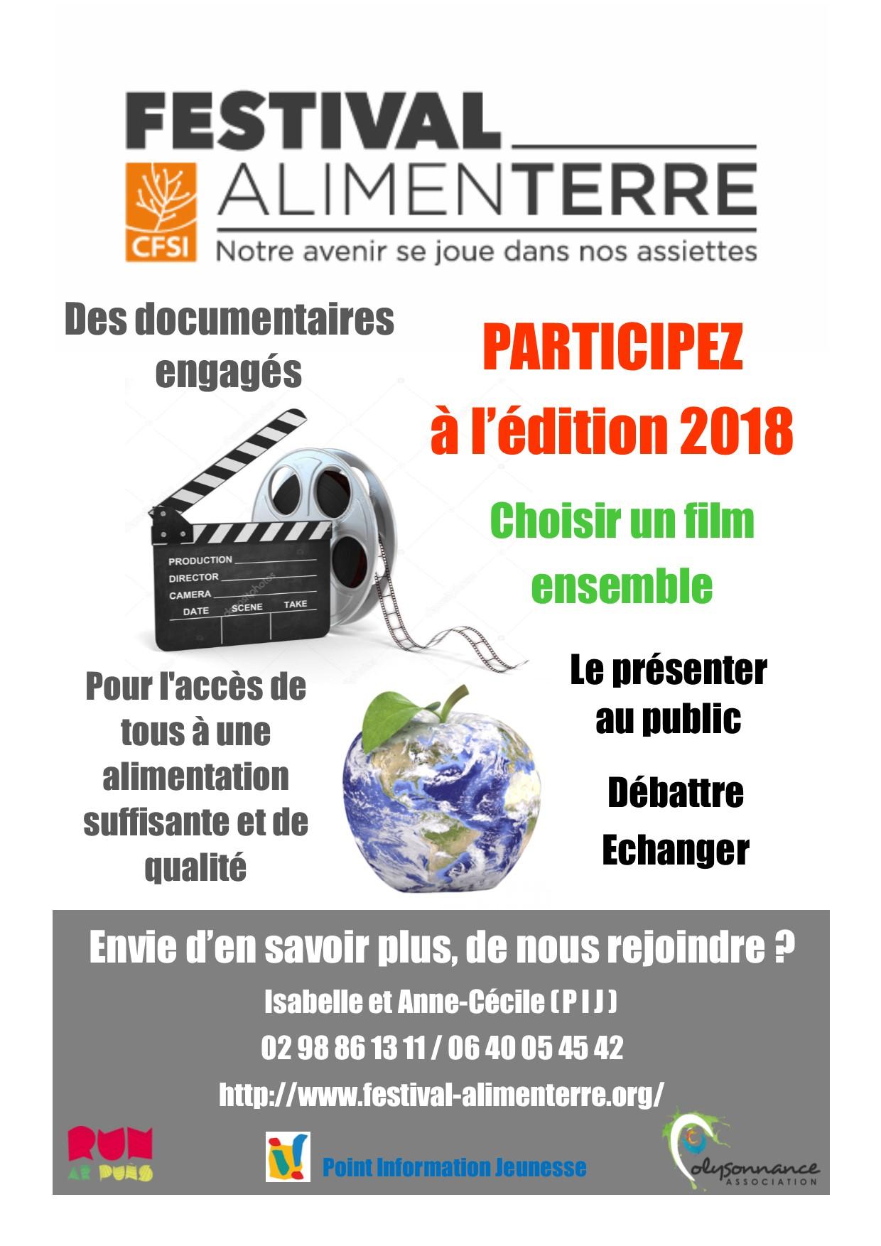 PIJ : FESTIVAL ALIMENTAIRE : CHOISIR UN FILM ENSEMBLE