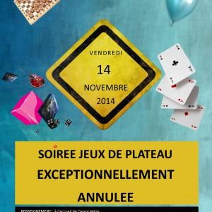 Affiche site web soiée jeux au Run le 14 11 2014