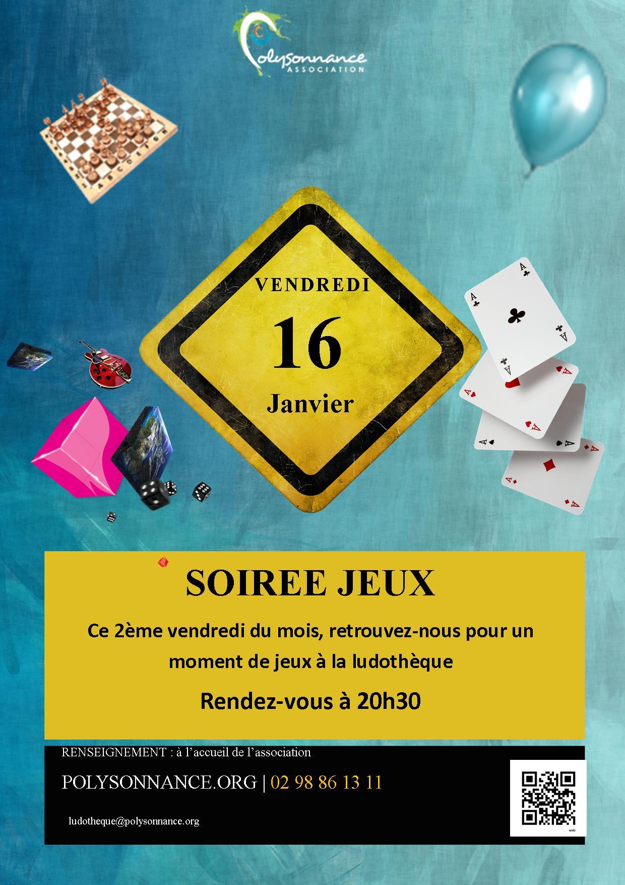 SOIREE JEUX VENDREDI 16 JANVIER 2015 A 20H30 A LA LUDOTHEQUE