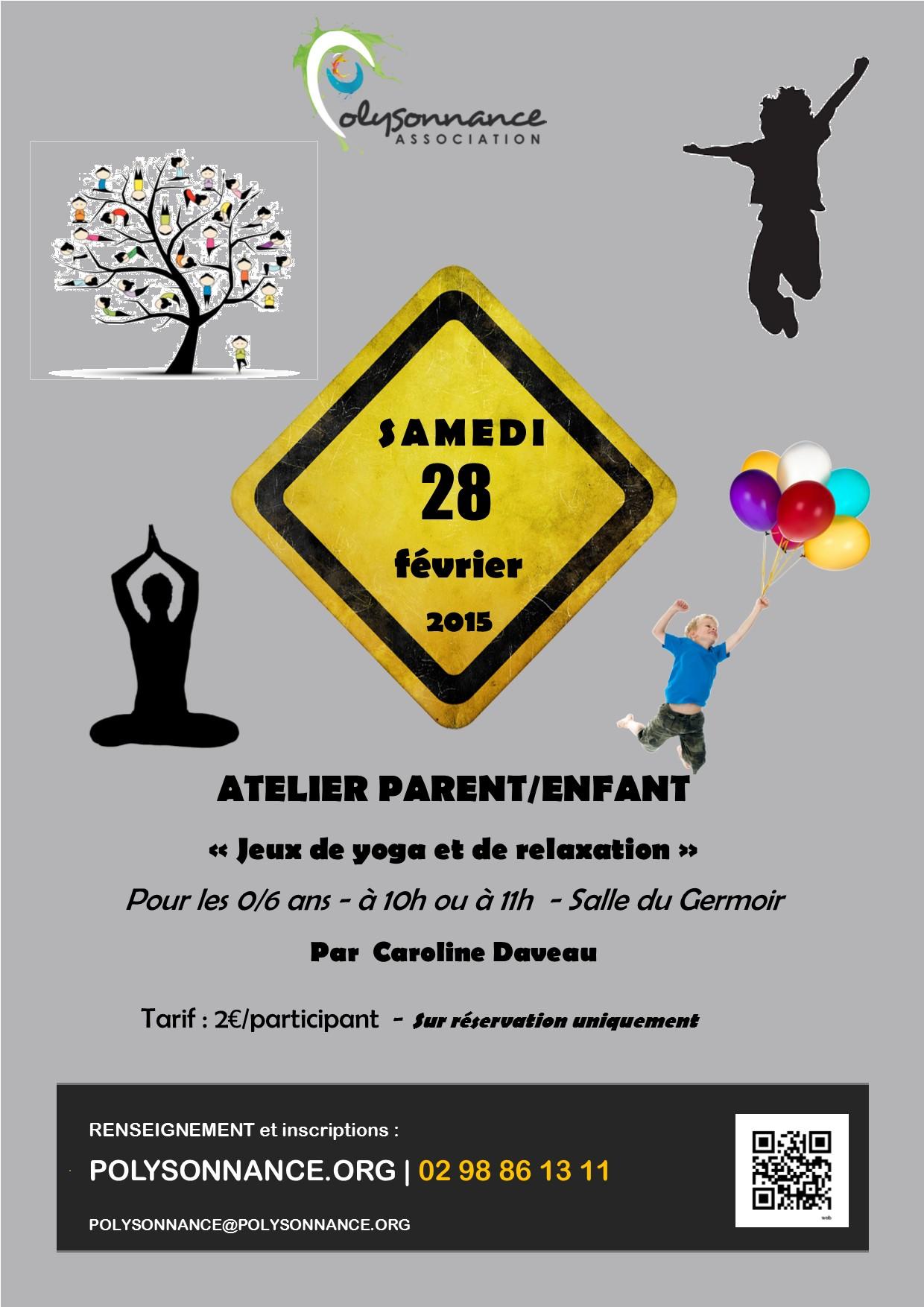 Atelier «Enfants/parents» : Samedi 28 février 2015 au Germoir