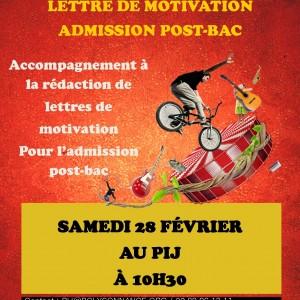 Affiche lettre de motivation admission post-bac