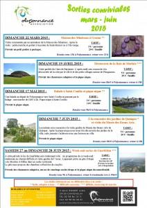 plaquette sorties conviviales mars juin 2015