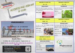 affiche activités mai juin 2015