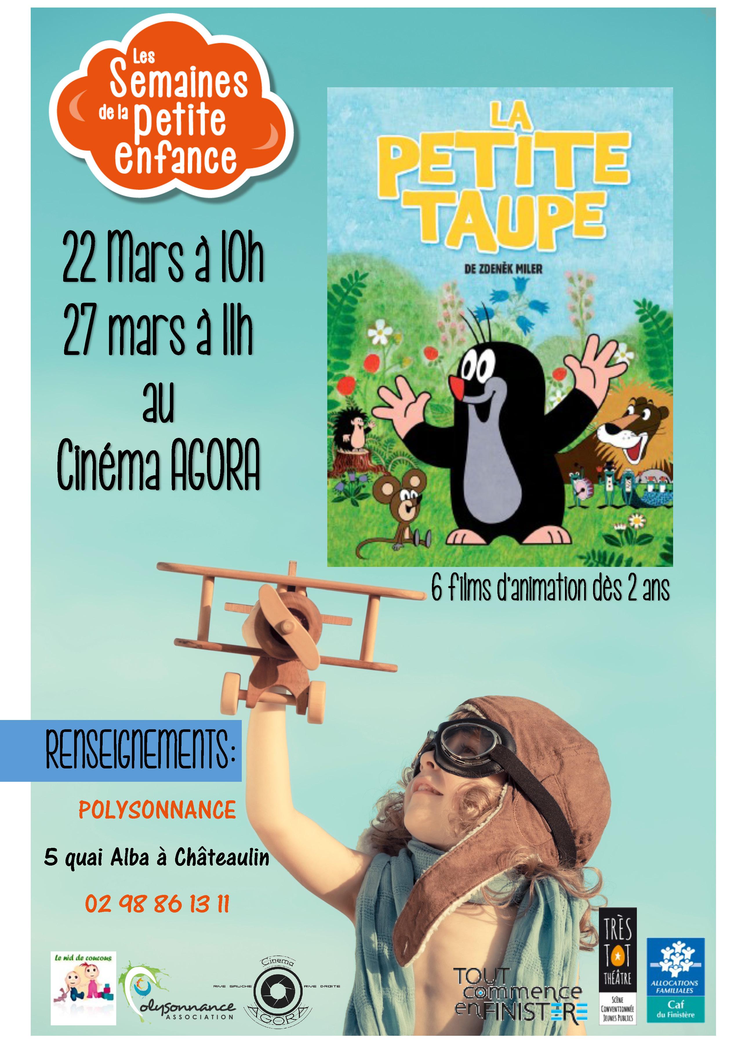Semaine petite enfance : «La Petite Taupe »  au CINÉMA AGORA les 22  et 27 mars – Dès 2ans
