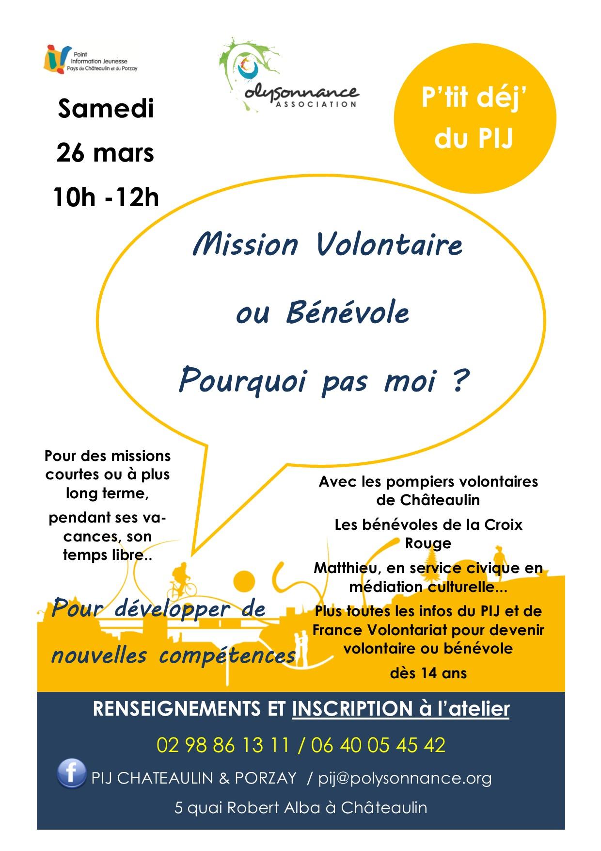 Mission volontaire ou bénévole : pourquoi pas moi ?