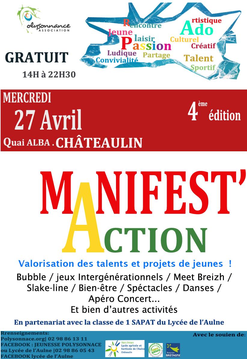 Manifest'Action 2016 : les jeunes à l'honneur le 27 avril !