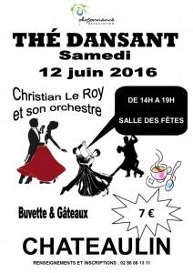 affiche thé dansant samedi 12 juin 2016