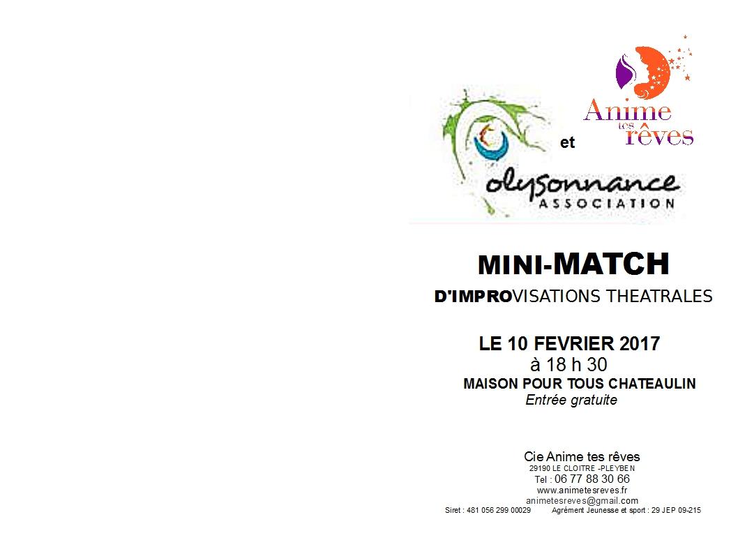 THEATRE : MATCH D'IMPRO CE SOIR VENDREDI 10 FÉVRIER A 18H30 A LA MPT