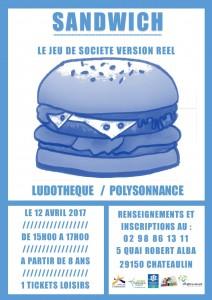AFFICHE SANDWICH AVRIL 2017
