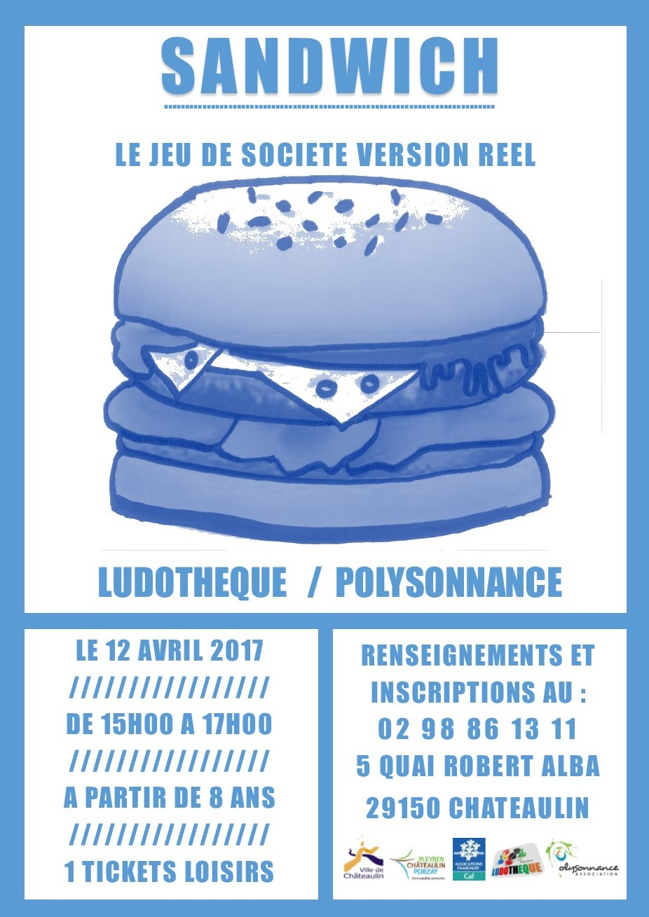 Le jeu Sandwich en version réelle