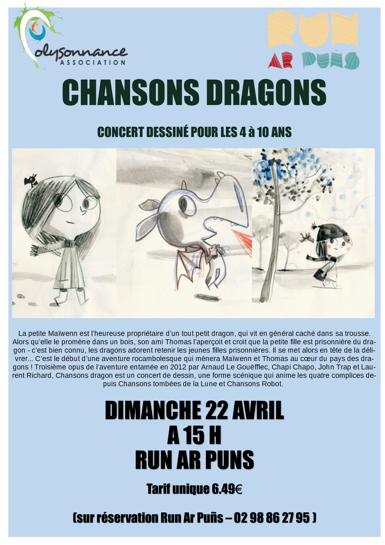 CONCERT « CHANSONS DRAGONS » DIMANCHE 22 AVRIL 15 HEURES