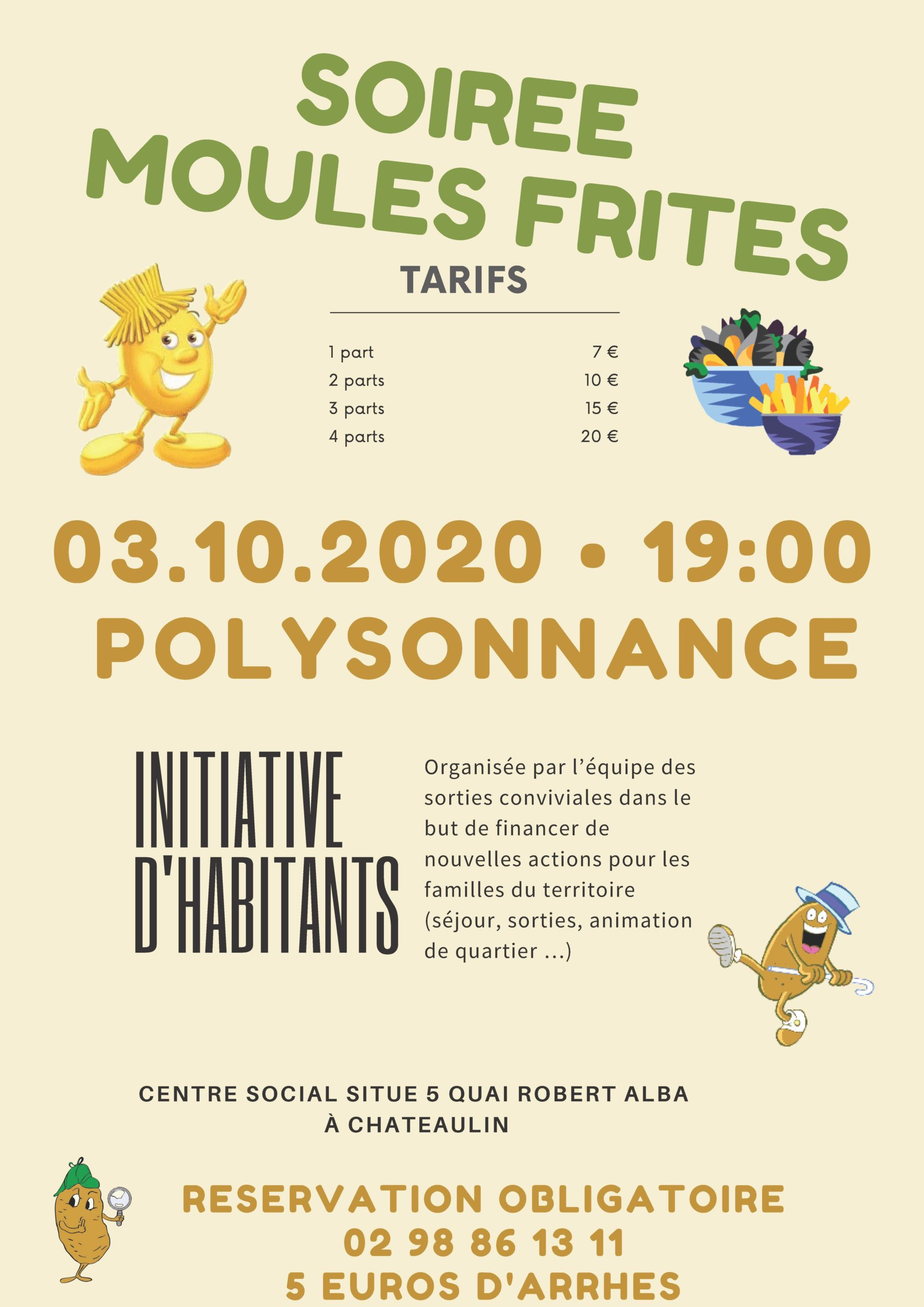 SOIREE MOULES FRITES 03/10