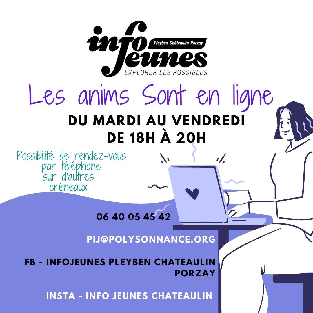 INFO JEUNES : Confinées² mais en ligne !