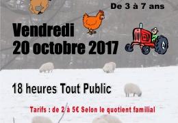 SPECTACLE JEUNE PUBLIC  de 3 à 7 ans : Vendredi 20 octobre à 18 heures à la MPT – Séance tout public