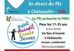 28 septembre, 15h : le PIJ présente le Point Accueil Ecoute Jeunes sur PERISCOPE