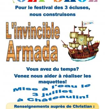 POLY'SKOL : FESTIVAL DES TROIS ECLUSES  «L'INVINCIBLE ARMADA» SAMEDI 3 JUILLET