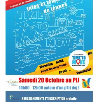 Atelier Time to Move ! Samedi 20 octobre 10h-12h