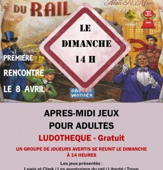 APRES MIDI JEUX POUR ADULTES : LE DIMANCHE A 14H