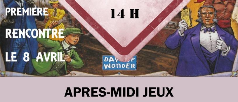 APRES MIDI JEUX A LA LUDOTHEQUE LE DIMANCHE A 14 HEURES