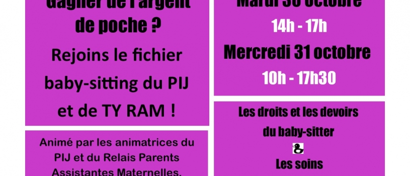 Atelier BABY-SITTING en co-animation avec Ty RAM de Pleyben