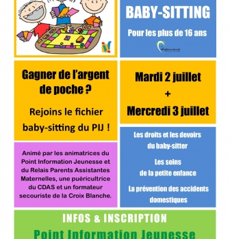 Atelier Baby-sitting 2 & 3 juillet