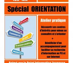 Atelier du PIJ «Spécial ORIENTATION» samedi 25 novembre
