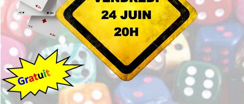 SOIREE JEUX : VENDREDI 24 JUIN 2016 A 20H AU RUN AR PUNS