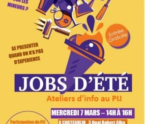 Atelier JOBS d'été au PIJ à Pleyben et Châteaulin!