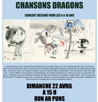 CONCERT «CHANSONS DRAGONS» DIMANCHE 22 AVRIL 15 HEURES