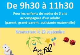 Vendredi 20 septembre de 9h30 à 11h30, premier bébéludo de la saison 2019/2020…