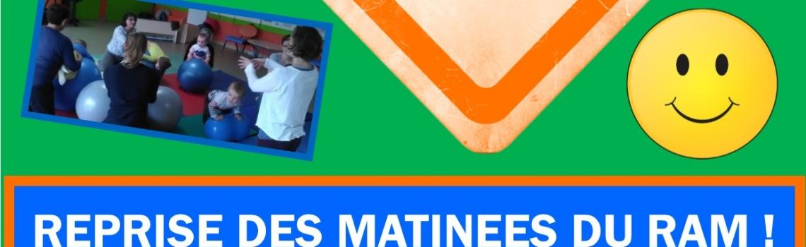 REPRISE DES MATINEES DU RELAIS ASSISTANTES MATERNELLES