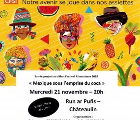 FESTIVAL ALIMENTERRE 21 novembre 20h au RUN ar PUNS