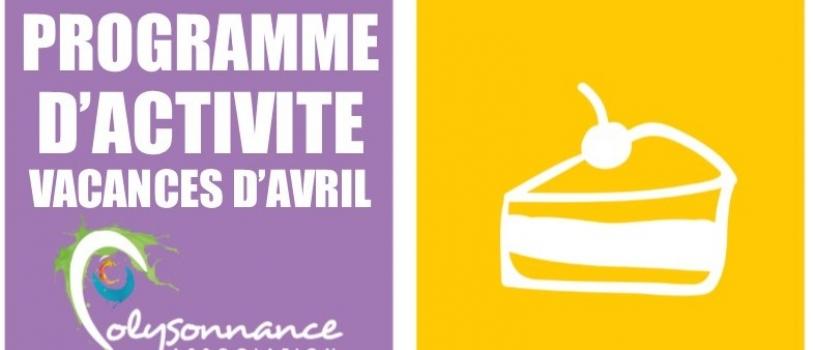 PROGRAMME DES VACANCES D'AVRIL 2019