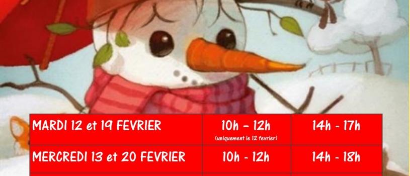 Ludothèque Au fil des jeux – horaire vacances d'hivers