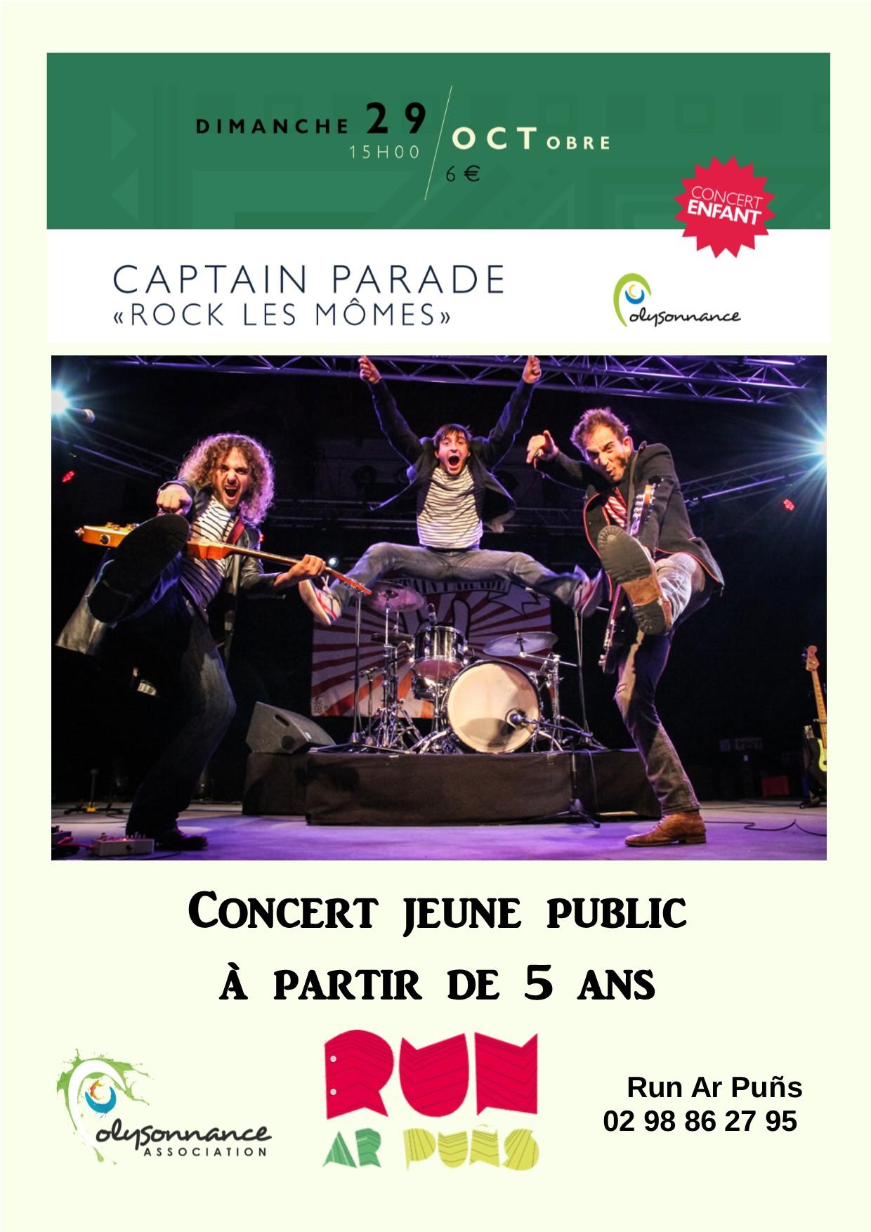Concert Jeune Public : Dimanche 29 octobre à 15h au Run Ar Puns – A partir de 5 ans