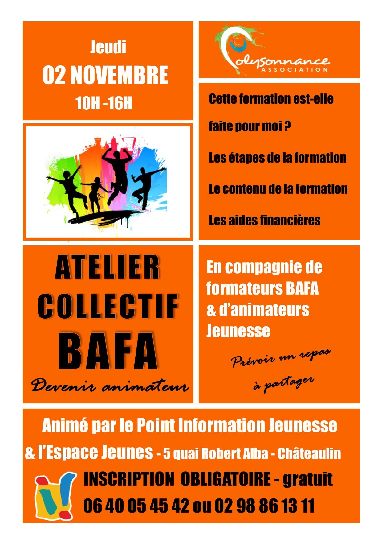 PIJ : Atelier BAFA : Jeudi 2 novembre de 10h à 16h à la MPT