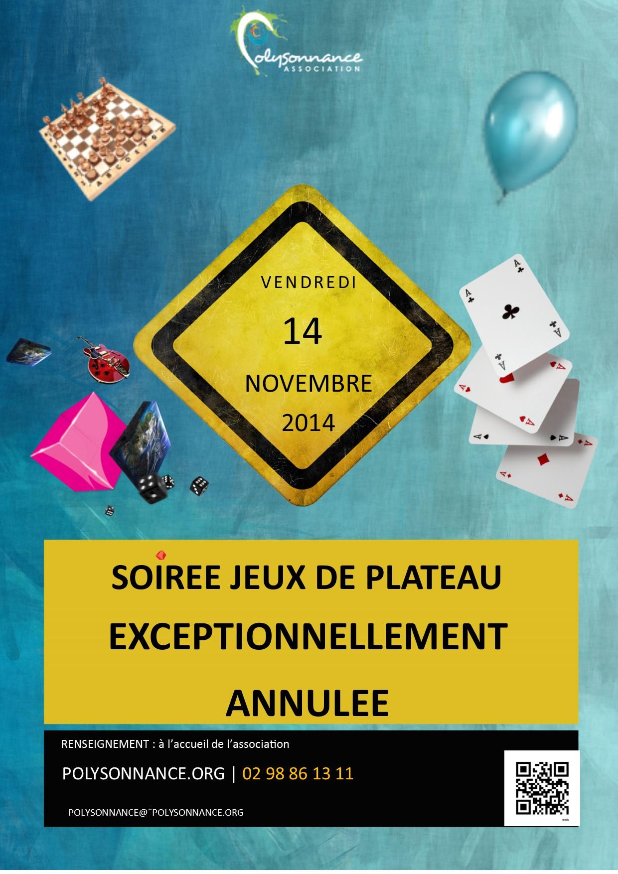 Annulation EXCEPTIONNELLE de la prochaine soirée «Jeux de Plateau» du vendredi 14  novembre au Run Ar Puns