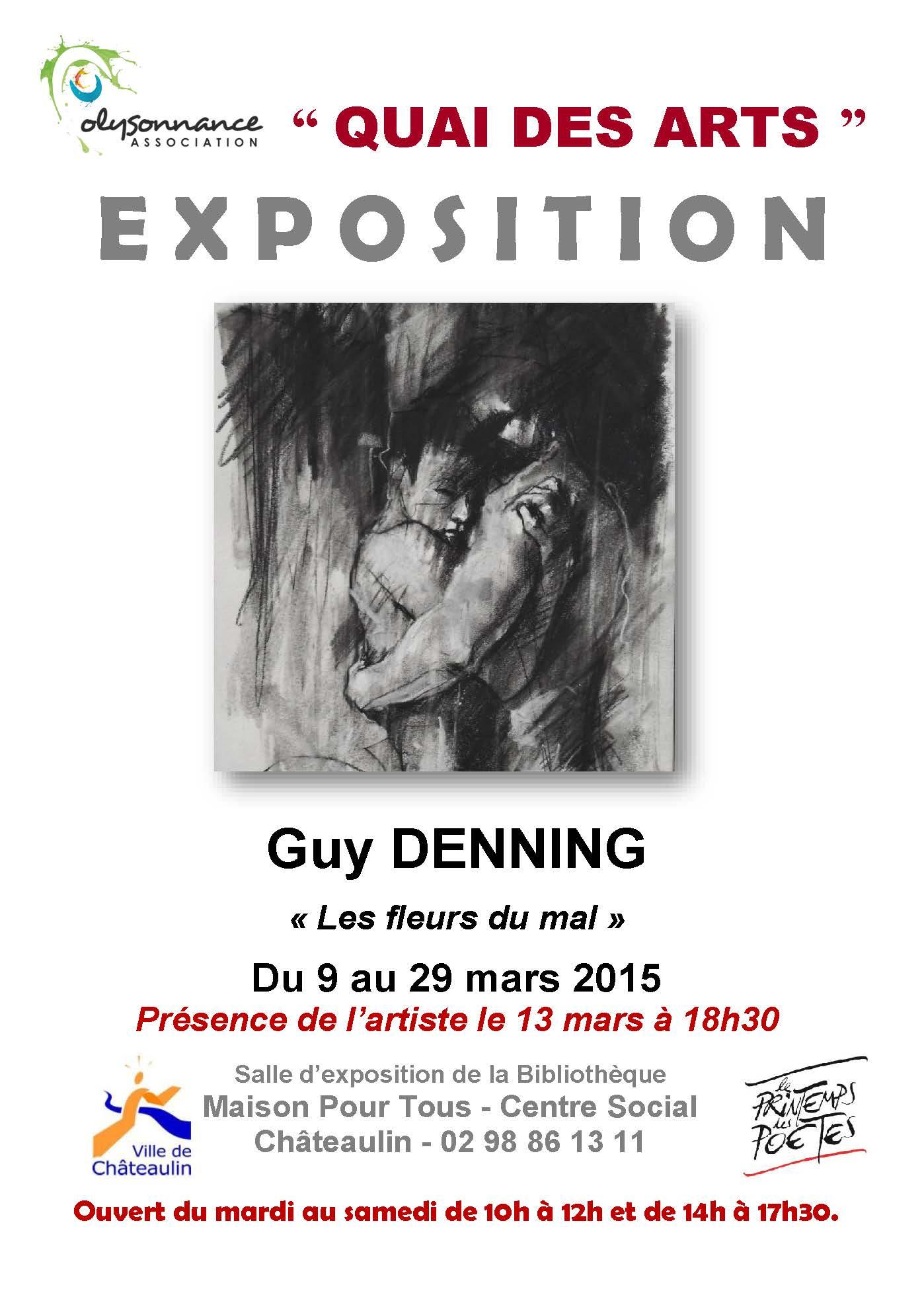 Quai des Arts  : exposition de Guy DENNING du 9 au 29 mars 2015