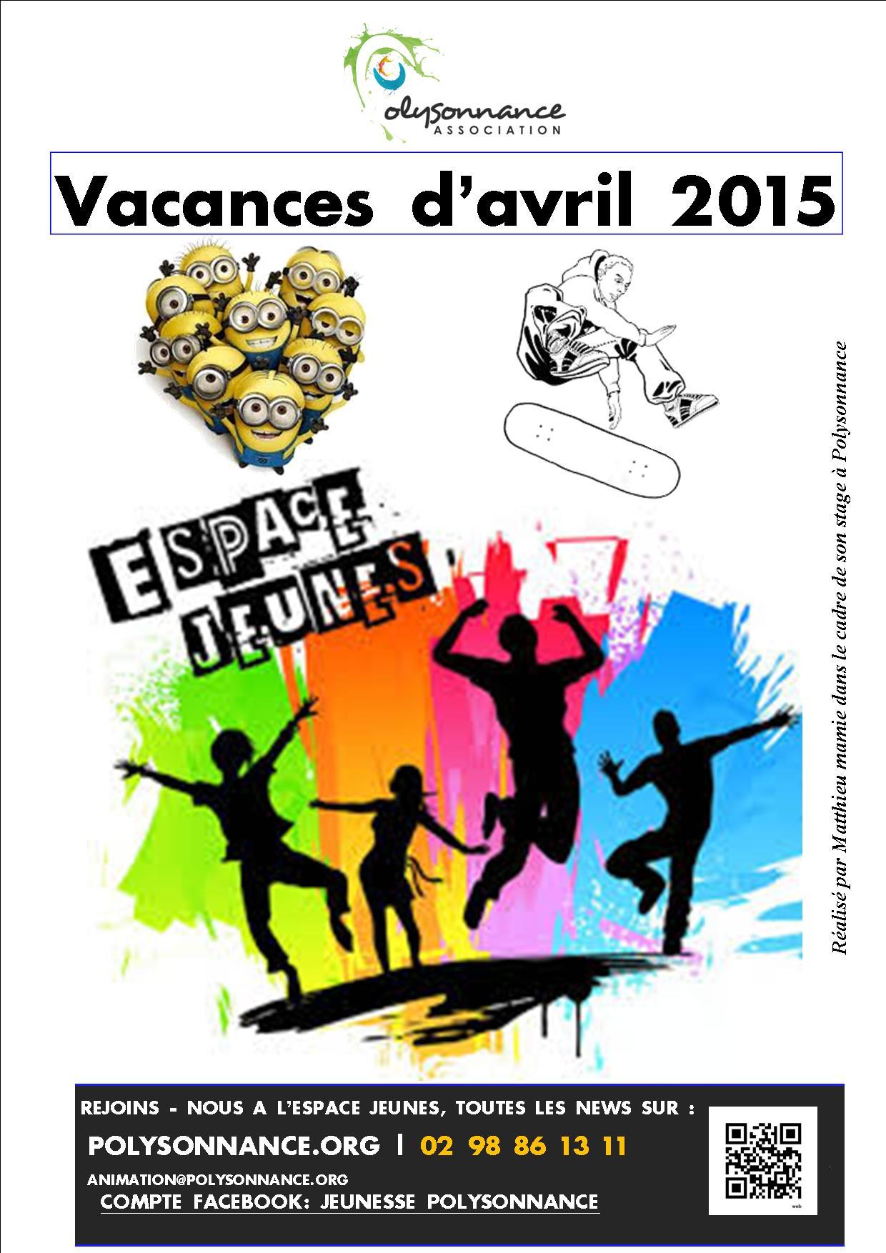 Les animations jeunesse des vacances d'avril 2015 !