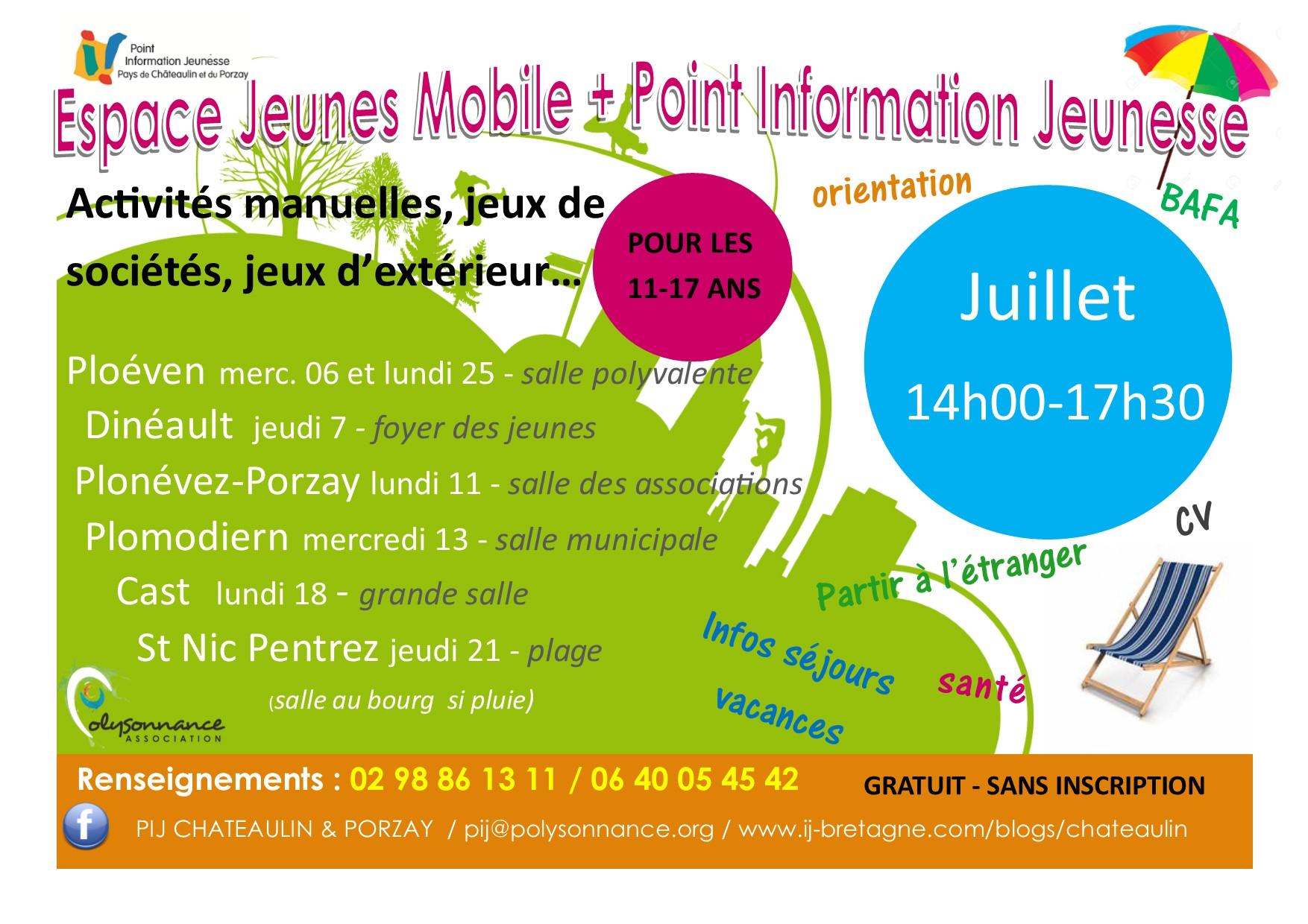 L'Espace Jeunes Mobile et le PIJ en tournée cet été!